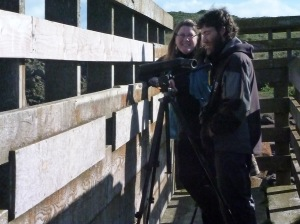 on the viewing platform with guide Doug