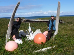 Jenni and me at the whale bones