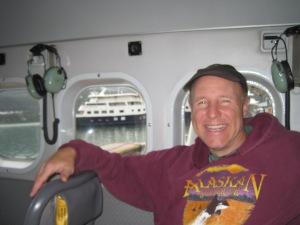 Harry on plane ride, leaving Juneau