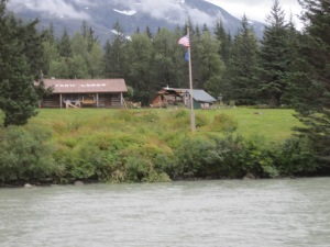 Taku Lodge was where we landed, this is a tourist destinatioin that has been there since 1923!