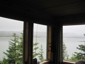 that is Taku Glacier as seen from inside the cabin, what a view!