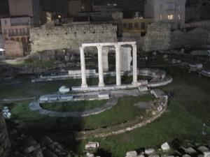 ruins around base of Acropolis