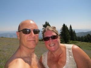 Hot hike up Bogus Basin outside of Boise
